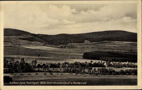 Ak Eisfeld in Thüringen, Panorama, Hirschendorf, Hinterrod