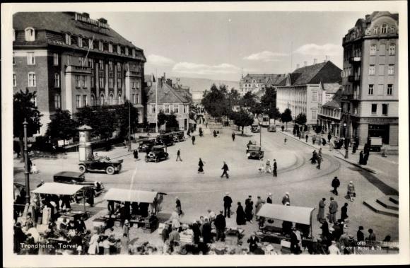 Ak Trondhjem Trondheim Norwegen, Torvet, Marktplatz