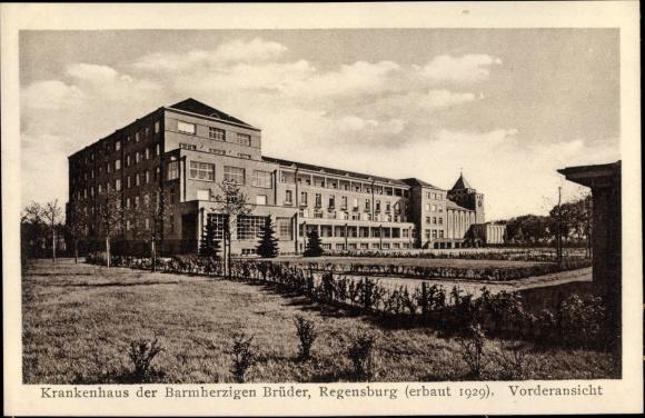 Ak Regensburg an der Donau Oberpfalz, Krankenhaus der Barmherzigen Brüder