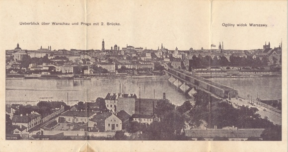 Klapp Ak Warszawa Warschau Polen, Überblick, Praga, 2. Brücke