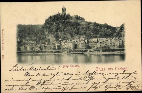 Ak Cochem Rheinland Pfalz, Burg Cochem