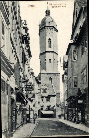 Ak Jena in Thüringen, Johannisstraße, Michaeliskirche 0
