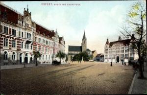 Ak Erfurt in Thüringen, Anger mit Hauptpost