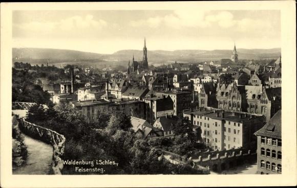Ak Wałbrzych Waldenburg Schlesien, Felsensteg