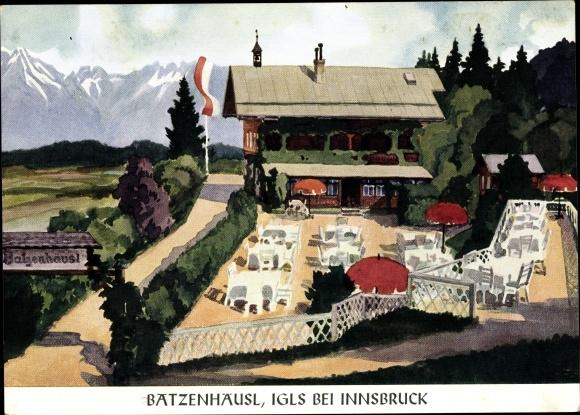 Künstler Ak Igls Tirol, Batzenhäusl