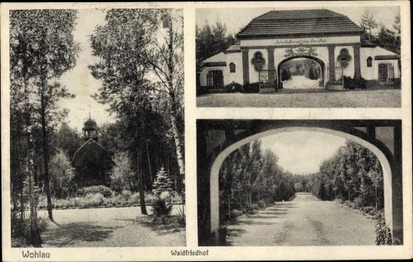 Ak Wołów Wohlau Schlesien, Waldfriedhof