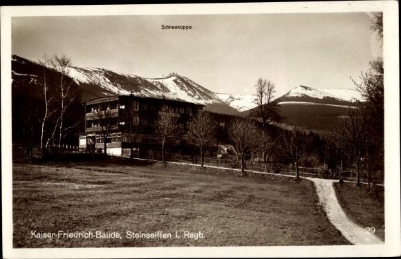 Ak Ściegny Steinseiffen Podgórzyn Giersdorf Riesengebirge Schlesien, Kaiser Friedrich Baude