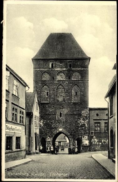 Ak Malbork Marienburg Westpreußen, Töpfertor