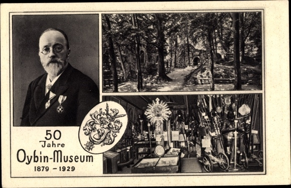 Wappen Ak Oybin in Sachsen, Oybin Museum, 50 jähriges Jubiläum 1929, Reliquie, Alfred Moschkau