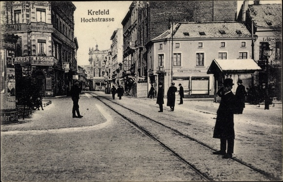 Ak Krefeld am Niederrhein, Hochstraße, G. W. H. Schmitz