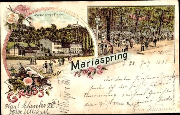 Litho Mariaspring Eddigehausen Bovenden Landkreis Göttingen, Gasthaus, Anlagen