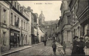 Ak Bolbec Seine Maritime, Rue Thiers, Geschäfte