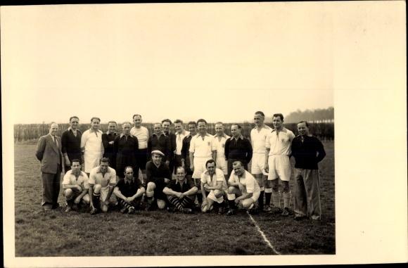 Ak Fußballmannschaften VfR Langenheim und Kurpfalz AH 1952, Gruppenbild