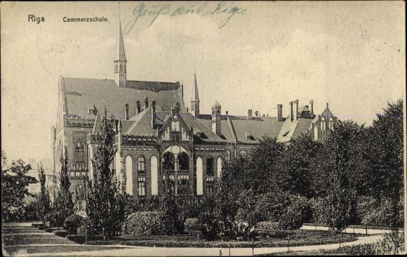 Ak Riga Lettland, Kommerzschule
