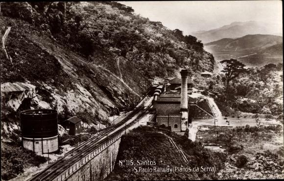 Ak Santos Brasilien, Sao Paulo Railway, Planos da Serra
