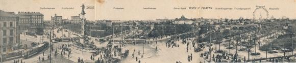 Klapp Ak Wien 2. Leopoldstadt Österreich, Panorama, Prater, Riesenrad