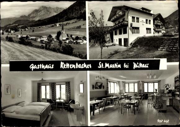 Ak St. Martin bei Hüttau Salzburg, Teilansichten