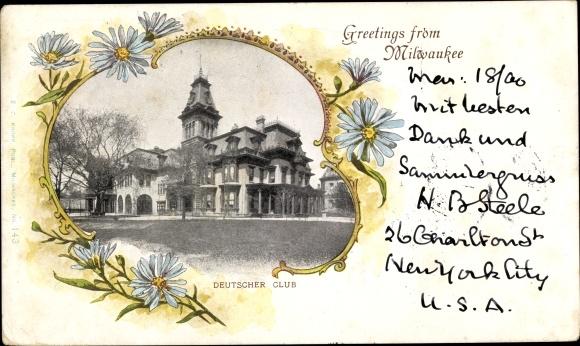 Passepartout Ak Milwaukee Wisconsin USA, Deutscher Club