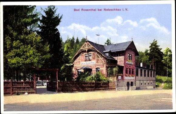 Ak Netzschkau im Vogtland, Gasthaus Bad Rosenthal, Edmund Richter