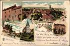 Litho Doveren Hückelhoven Nordrhein Westfalen, Bürgermeisteramt, Kirche, Restaurant