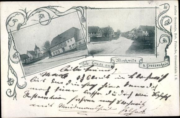 Ak Blochwitz Lampertswalde Sachsen, Straßenpartien