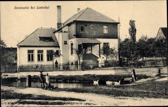 Ak Bonnewitz Pirna in Sachsen, Café Hohe Brücken