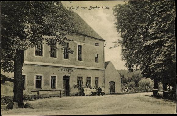 Ak Bucha Kaiserpfalz Sachsen Anhalt, Gasthof zur Mühle