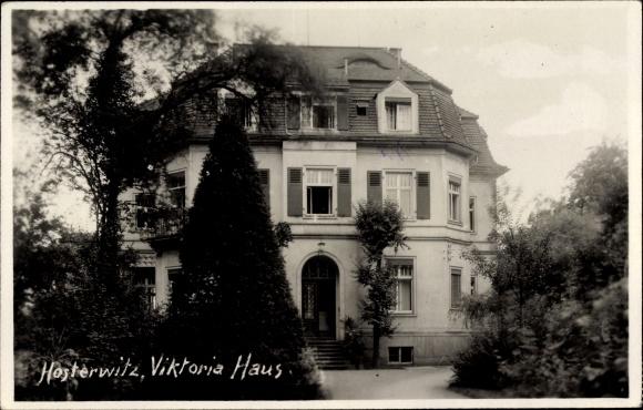 Foto Ak Dresden Nordost Hosterwitz, Viktoriahaus