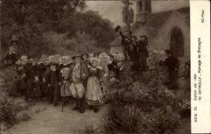 Künstler Ak Th. Deyrolle, Mariage en Bretagne, Salon de 1921