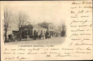 Ak Argenteuil Val-d'Oise, La Gare