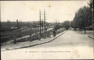Ak Le Bourget Seine Saint Denis, Gare d'Echange du Bourget Drancy