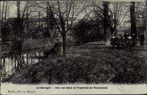 Ak Le Bourget Seine Saint Denis, Proprieté du Pensionnat
