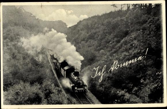 Ak Ich komme, Deutsche Eisenbahn, Dampflokomotive