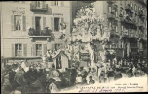 Ak Nice Nizza Alpes Maritimes, Carneval de Nice, Boumi Servez Chaud