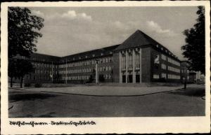Ak Wilhelmshaven in Niedersachsen, Stationsgebäude