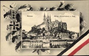 Passepartout Ak Meißen in Sachsen, Königliche Albrechtsburg und Dom