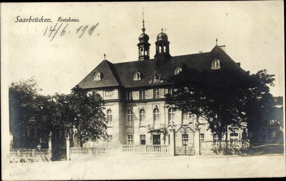 Ak Saarbrücken im Saarland, Blick zum Kreishaus
