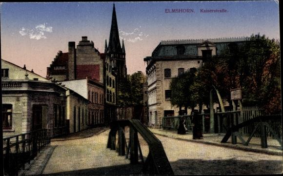 Ak Elmshorn Schleswig Holstein, Blick in die Kaiserstraße