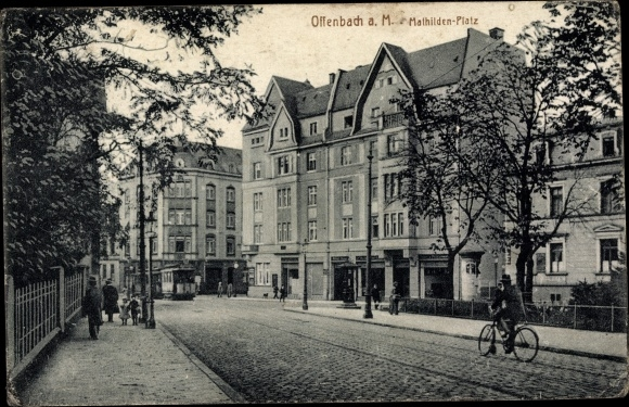 Ak Offenbach am Main Hessen, Blick auf den Mathildenplatz