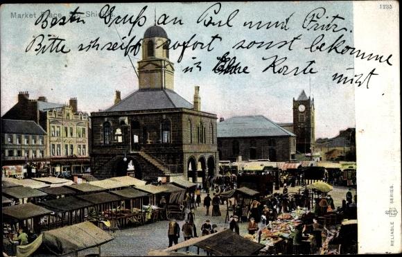 Ak South Shields South Tyneside England, Market Place