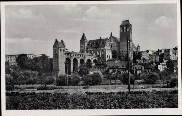 Ak Kwidzyn Marienwerder Westpreußen, Dom, Dansker, Schloss