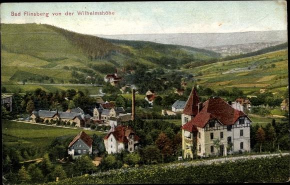 Ak Świeradów Zdrój Bad Flinsberg Schlesien, Blick von der Wilhelmshöhe