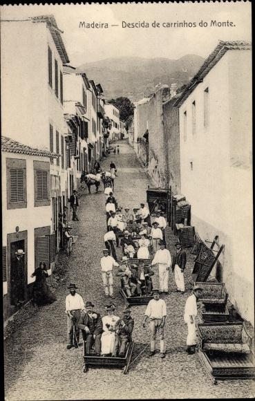 Ak Insel Madeira Portugal, Descida de carrinhos do Monte