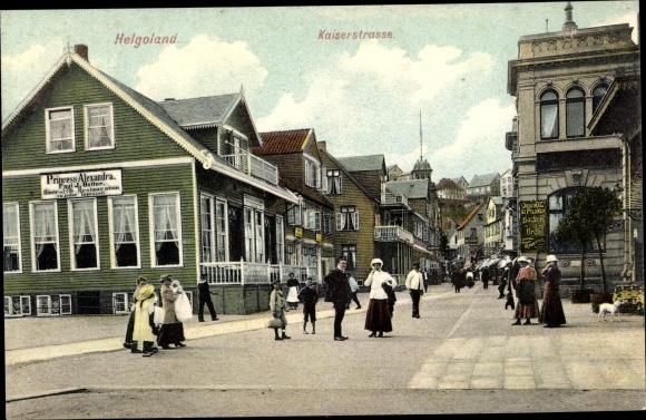 Ak Helgoland in Schleswig Holstein, Kaiserstraße, Pension Prinzess Alexandra
