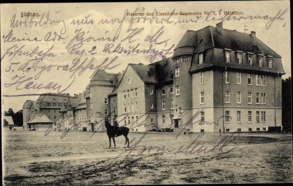 Ak Hanau im Main Kinzig Kreis Hessen, Kaserne des Eisenbahnregiments Nr. 2, I. Bataillon