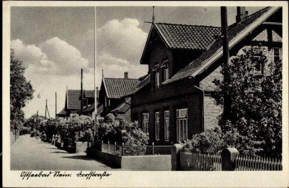 Ak Stein Probstei Schleswig Holstein, Dorfstraße, Wohnhäuser