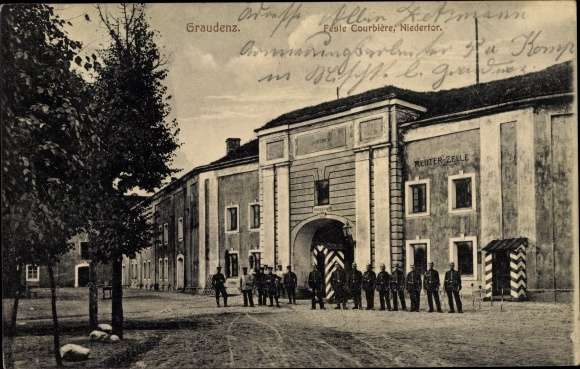Ak Grudziądz Graudenz Westpreußen, Feste Courbiere, Niedertor, Reuter Zelle