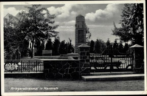 Ak Havetoft in Schleswig Holstein, Kriegerehrenmal