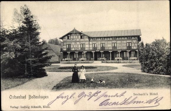 Ak Ostseebad Boltenhagen, Blick zu Seebachs Hotel