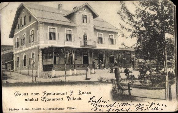 Ak Villach in Kärnten, Restaurant F. Knees